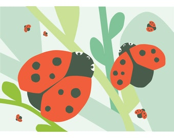 Ladybug card - Eco friendly