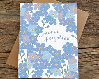sympathy card / condolence card / forget-me-nots