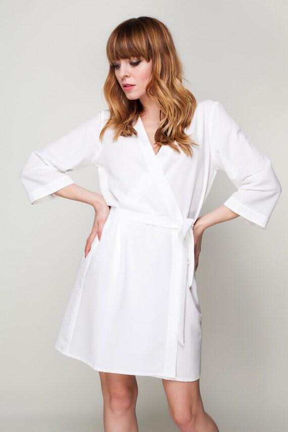 Ivory Robes / Bridesmaid & Brides Dressing Gown / Cream Satin