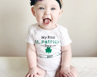 My First St. Patrick's Day, St. Patrick's Day Shirt, Saint Patrick's Day, St. Patty's Day, St. Patty's Day Shirt, St. Patty's Day Outfit