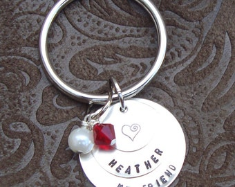 Personalized Hand Stamped Keychain for mccarver