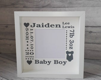 New baby Frame, Birth announcement, New Baby Gift, Birth Details, Personalised Baby Gift, Baby Keepsake