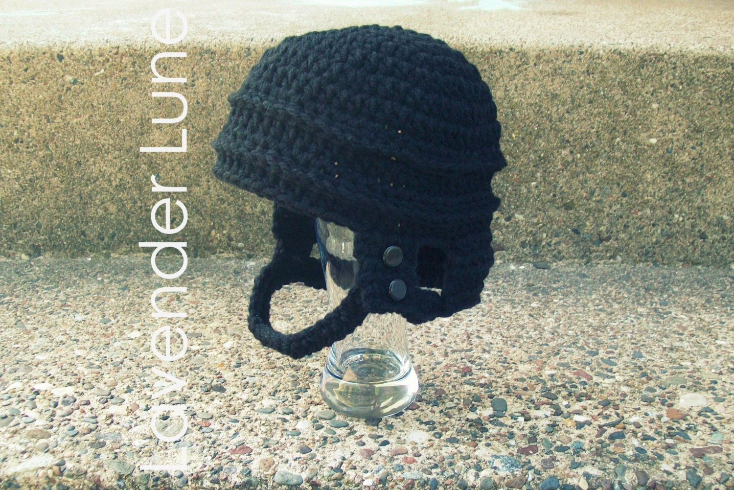 PDF CROCHET PATTERN: The Hockey Helmet Photo Prop. Earflap