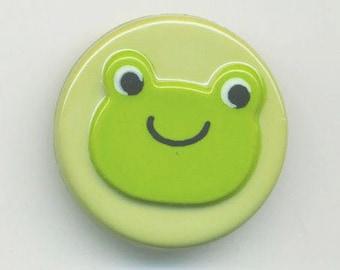 Fancy Green Frog button