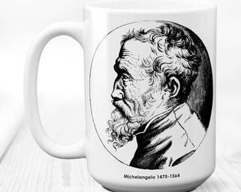 Michelangelo,painter mug,artist mug,painter,coffee mug,painter gift,artist gift,mug,gift for artist,artist,gift for painter 15 oz