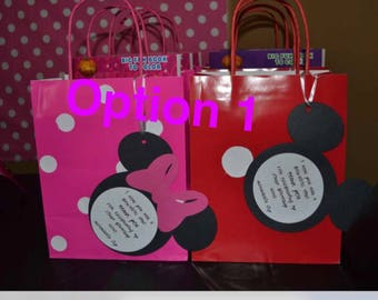 10 Mickey and Minnie goody bags