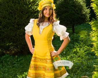 Russian traditional dress Annushka, Dance russian dress, Scenic woman costume, Traditional dance woman dress