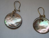 Mother of Pearl charm ear...