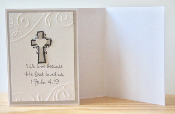 Christian wedding card. bible verse wedding card. 1 john