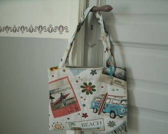 cotton tapestry style fabric tote bag