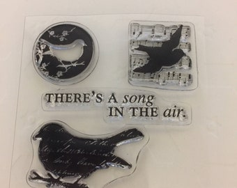 Clear mini cling rubber stamps