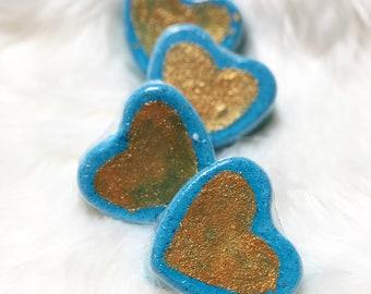 MERMAID AT HEART | mermaid bath bomb | heart shaped bath bomb | foaming bath bomb | mermaid love | mermaid gift | gift for mermaid lover |