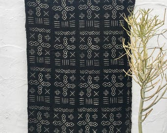 Mudcloth textile, Mud cloth fabric, black and white mudcloth home decor tribal fabric #56