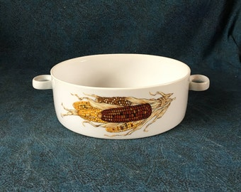 "Vintage Georges Briard ""Indian Corn"" Handled Casserole"