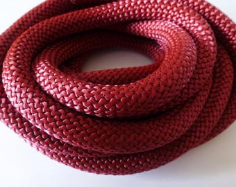 20 cm round rope braided 10 mm maroon (ref PPC10B)