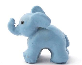 Dollhouse Miniature Toy Gray Elephant