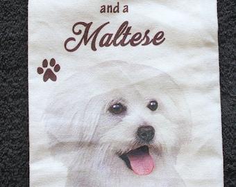 Maltese Dog Breed Cotton Kitchen Dish Towel