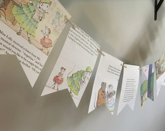 ANGELINA BALLERINA book page banner bunting garland decoration