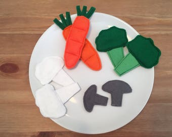Felt Play Food - Veggies Set