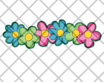 SVG Flower Border