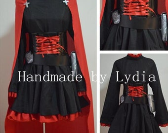 Handmade - RWBY Cosplay, RWBY Costume, RWBY Ruby Cosplay Costume Halloween Adult/kid Available