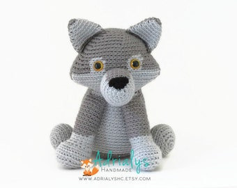 Crochet Wolf- Stuffed Wolf- Woodland Nursery- Woodland Animals- Forest Animals- Handmade Wolf- Crochet Toy- Made to Order