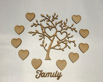 2 X blank Family tree bundle set