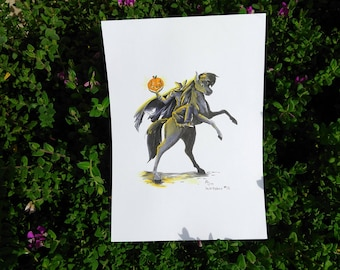 Inktober 2017 - The Headless Horseman Original