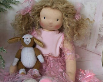 FREE SHIPPING , Waldorf doll, cloth doll, Waldorf puppe, steiner doll, Waldorf baby doll, natural fiber doll, Zoe