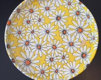 Vintage Flower Tray - Bright Retro