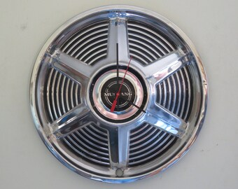 1965 Ford Mustang Hubcap Clock No. 2609