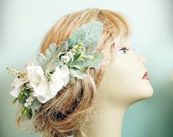 Fleur et feuille cheveux de mariée peigne fleur couronne Couronne de cheveux de mariée