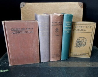 Agriculture Antique Vintage Book Collection - Yearbook of the Department of Agriculture 1896, 1903 & 1936 - Productive Farming