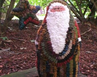 Primitive Folkart Hooked Rug Santa PDF PATTERN only Thewarehouseshelf Collectibles