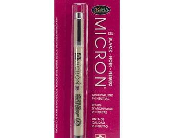 Sakura/Pigma Micron Pen 05 .45mm/Archival Ink/Scrapbook/Black/Wedding Guest Book Signing/Scrapbook/Drawing