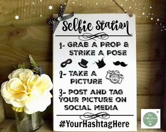 Selfie Station Photo Booth Plaque Sign Wedding Decor
