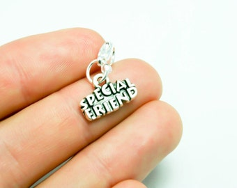 Special Friend Charm. Best Friends Charm. Bracelet Charm for Best Friends. SCC434