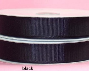 1.5 inch x 50 yds grosgrain ribbon - BLACK