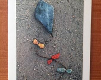 Go Fly A Kite notecard - Willard Beach, ME