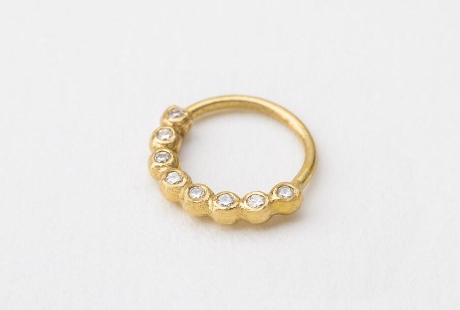 Diamond Nose Ring Diamond Piercing Diamond Nose Hoop Bling