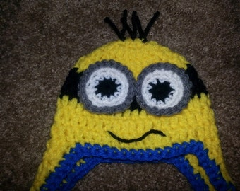 Crocheted MINION Hat! ALL SIZES available!
