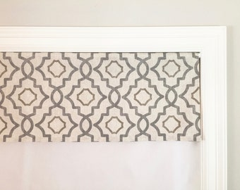 "Straight Valance.  Magnolia Home Fashions Talbot Metal. Natural. Brown.  Custom Sizing Available Up To 54"" Wide."