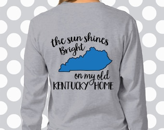 kentucky svg, The sun shines bright on my old Kentucky home, Printable or  Cuttable, Kentucky SVG, ,Kentucky vector , Digital Download