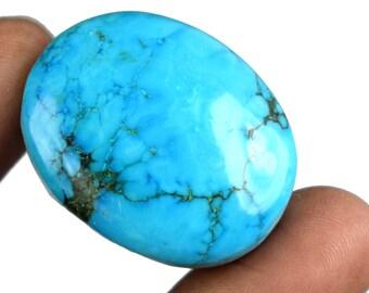 97.95 Carat Natural Oval Shape Arizona Blue Turquoise Loose Gemstone