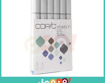 Copic Sketch Marker Set 6 Sea & Sky