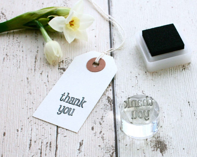 Thank You Stamp - Small Stamp - Small Thank you - thank you Stamp - Stamping - Clear Stamp - Rubber Stamp - Little Stamp Store