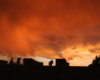 Sunset photograph, sun down photograph, nature photo, gift