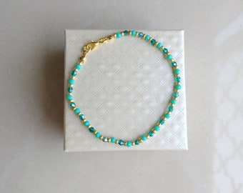 TITO A turquoise and light blue crystal bracelet