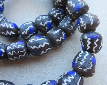 Krobo Glass Beads (10-13x10-13mm) [68325]