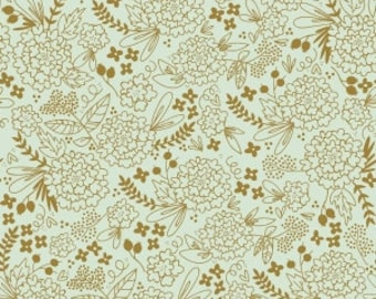 On Trend Floral Mint Sparkle Metallic  - Jen Allyson for My Mind's Eye for Riley Blake Fabrics - You Select the Size